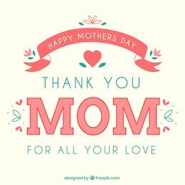 Cartão para o dia das mães feliz