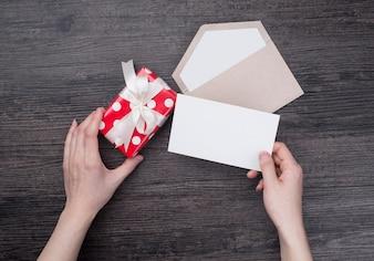 Cartão, postal, feriado, dois, prancha