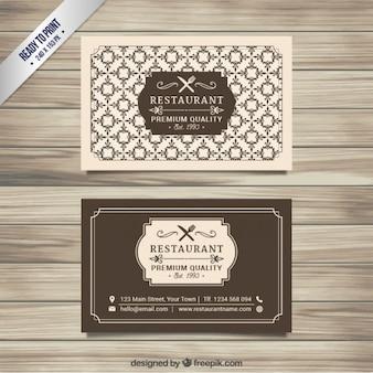 Cartão restaurante Retro