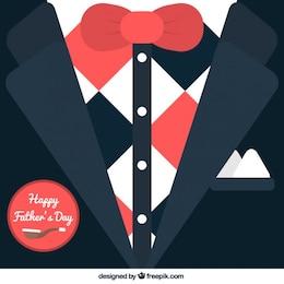 Cartão Tuxedo para dia dos pais