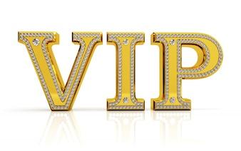 Cartão VIP com diamantes