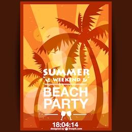 Cartaz do partido do sol do verão