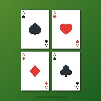 cartões de jogo de poker