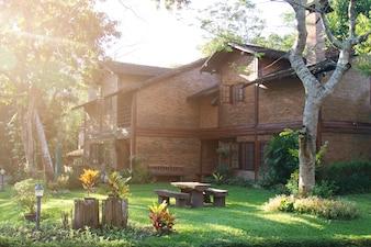 Casa de tijolos residencial