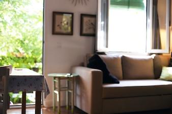 Casa sala com sofá