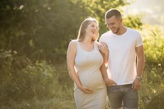 Casal grávida