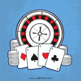Casino desenho vetorial