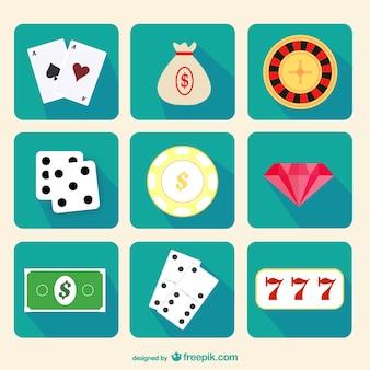 Ícones do casino embalar