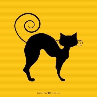 Cat silhueta arte livre