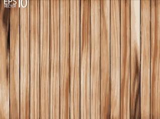 Cerca de madeira com parafusos hexagonais em travessas