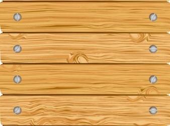 Cerca de madeira com placas parafusadas horizontais
