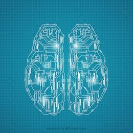 Cérebro feito de circuitos