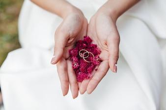 Cerimônia do anel beleza casamento objetos ouro