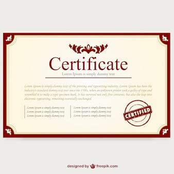 Layout do modelo de certificado