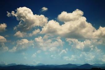 Céu, nuvens e do horizonte
