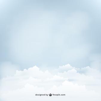 Céu azul com nuvens
