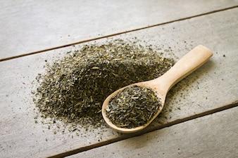 Chá de madeira fundo agricultura nutricional