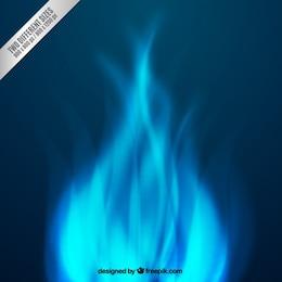 Chamas abstrato azul