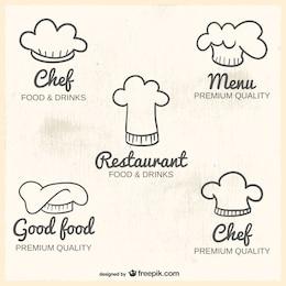 Chapéus de chef logos