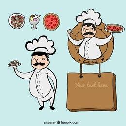 Chef personagem de desenho animado