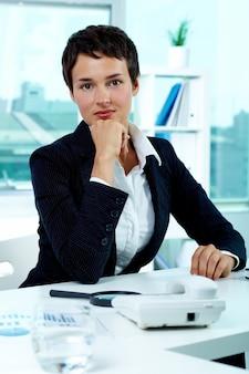 Chefe emprego agente menina corporativa