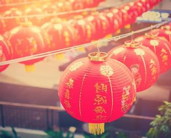 Chinês Lanternas, Ano Novo Chinês.