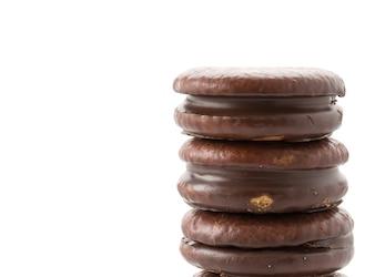 Chocolate, macio, bolo, marshmallow