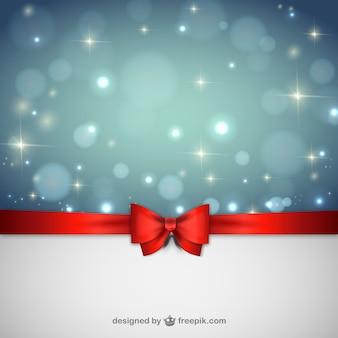 Fundo do Natal com fita vermelha