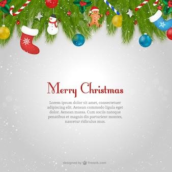 Modelo do cartão de Natal com texto