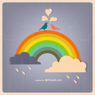 Chuva do arco-íris vector download