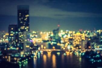 Cidade Bangkok borrão