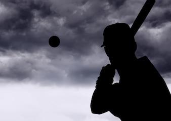 Cinza cópia espaço taco de beisebol empresa desportista