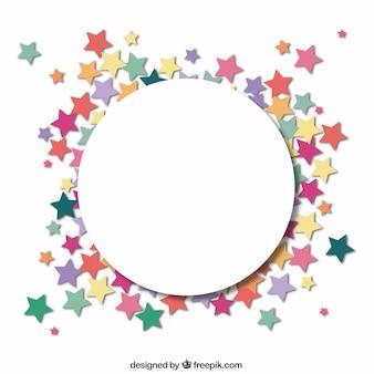 Círculo com um quadro de estrelas
