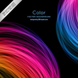 Circunda o fundo colorido em estilo neon