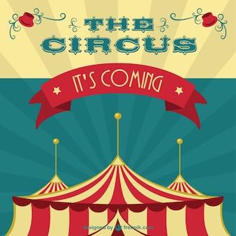 Tenda de circo vetor arte