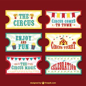 Bilhetes de circo vetor