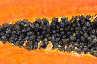 Close-up da papaia