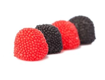 Close-up de amoras de goma