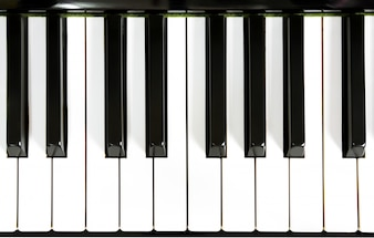 Close up de chaves do piano