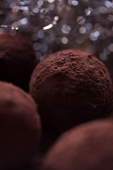 Close-up de deliciosas trufas