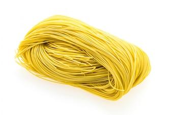 Close-up de espaguete cru