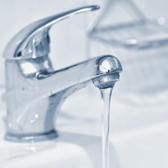 Close-up de água corrente