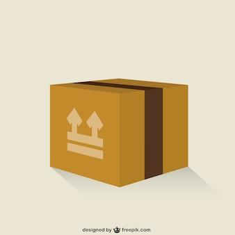 Caixa de papelão fechada