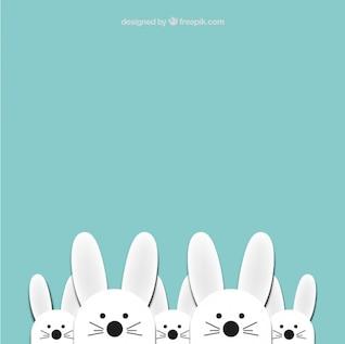 Coelhinhos da páscoa bonito fundo
