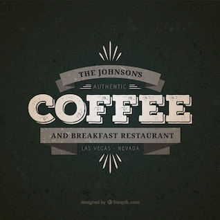 Coffee and breakfast restaurante badge