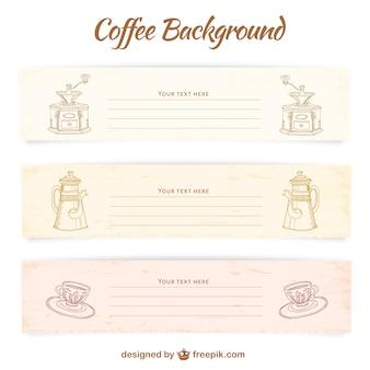 Modelos de banner café