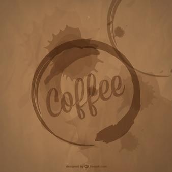 Arte copo de café manchas vetor