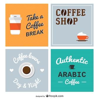 Café cartazes embalar