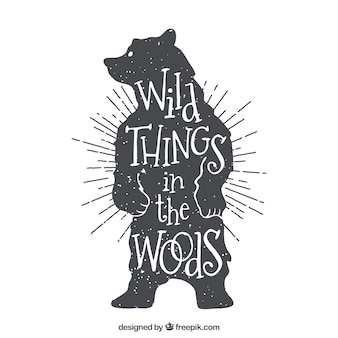 Coisas selvagens na floresta