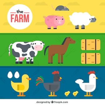 Coleção animais de fazenda